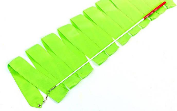 Лента для художественной гимнастики с палочкой 6м Lingo C-1762 (нейлон, l-6м, палочка-металл, l-56см, цвета в ассортименте), фото 2