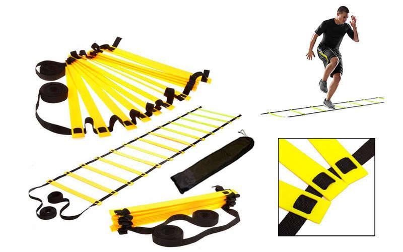 Координационная лестница дорожка для тренировки скорости 10м (20 перекладин) C-4351 (10мx0,52мx4мм цвета в ассортименте)