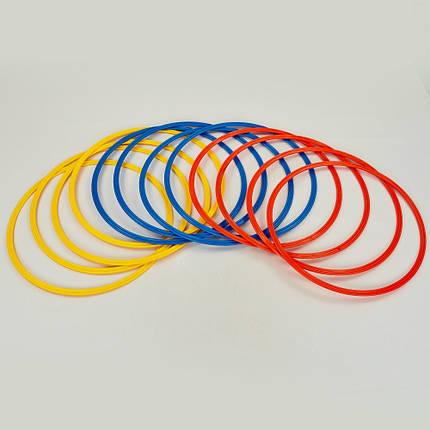 Кольца тренировочные C-0815-50 (пластик, d-50см, в комплекте 12шт., цвета в ассортименте), фото 2