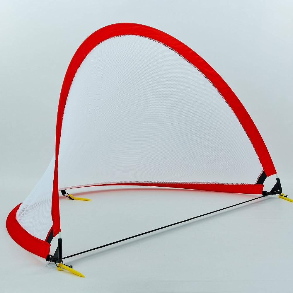 Складные футбольные ворота для тренировок (1шт) PORAY PS-SN001M (пластик, сетка, PVC чехол, р-р 5ft (152х91х91см), цвета в ассортименте)
