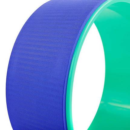 Колесо-кольцо для йоги Record Fit Wheel Yoga FI-5110 (PVC, TPE, р-р 32х13см, фиолетовый-зеленый), фото 2