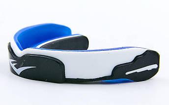 Капа боксерская односторонняя (одночелюстная) двухкомпонентная в футляре EVERLAST 1400008 (синий-белый-серый), фото 2