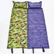 Коврик самонадувающийся с подушкой TY-0560 (полиэстер, размер 1,85мх0,5м, камуфляж), фото 3