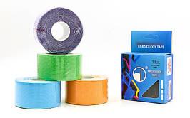 Кинезио тейп в рулоне 3,8см х 5м (Kinesio tape) эластичный пластырь BC-4863-3,8 (цвета в ассортимен)