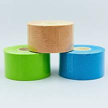 Кинезио тейп в рулоне 3,8см х 5м (Kinesio tape) эластичный пластырь BC-0841-3_8 (бежевый, синий, салатовый), фото 2