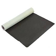 Коврик для йоги Джутовый (Yoga mat) двухслойный 3мм Record FI-7157-4 (размер 1,83мx0,61мx3мм, джут, каучук, серый-розовый, с принтом Лотос), фото 3