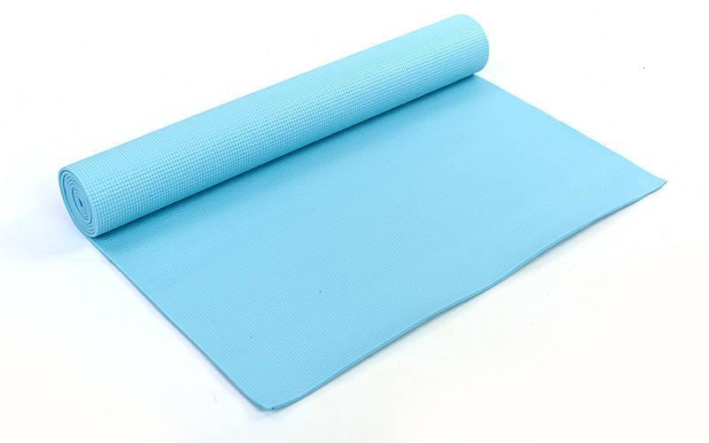 Коврик для фитнеса и йоги PVC 4мм SP-Planeta FI-4986 (размер 1,73мx0,61мx4мм, цвета в ассортименте)