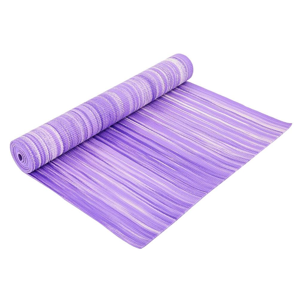 Коврик для фитнеса и йоги PVC 4мм SP-Planeta FI-6983 (размер 1,73мx0,61мx4мм, с принтом Полоса, цвета в ассортименте)