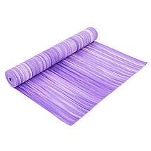 Коврик для фитнеса и йоги PVC 4мм SP-Planeta FI-6983 (размер 1,73мx0,61мx4мм, с принтом Полоса, цвета в ассортименте), фото 2