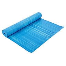 Коврик для фитнеса и йоги PVC 4мм SP-Planeta FI-6983 (размер 1,73мx0,61мx4мм, с принтом Полоса, цвета в ассортименте), фото 3
