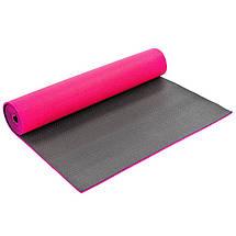 Коврик для фитнеса и йоги PVC 6мм двухслойный SP-Planeta FI-5558 (размер 1,73мx0,61мx6мм, цвета в ассортименте), фото 2