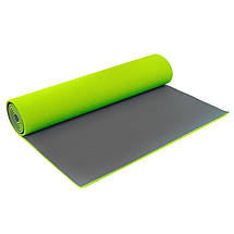 Коврик для фитнеса и йоги PVC 6мм двухслойный SP-Planeta FI-5558 (размер 1,73мx0,61мx6мм, цвета в ассортименте), фото 3
