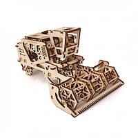 Комбайн UGears (154 детали) - механический 3D пазл