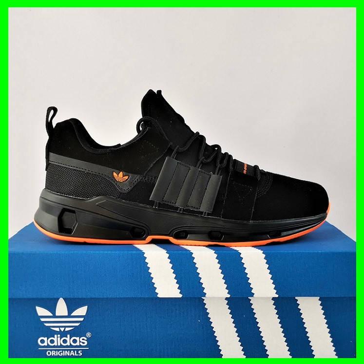 Кроссовки Мужские Adidas Черные Адидас (размеры: 42,43,44,45) Видео Обзор, фото 2