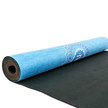 Коврик для йоги Замшевый каучуковый двухслойный 3мм Record FI-5662-44 (размер 1,83мx0,61мx3мм, радужный разноцветный), фото 3