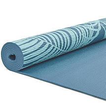 Коврик для йоги и фитнеса PVC двухслойный 4мм SP-Planeta PALM FI-0180  (размер 173смx61смx4мм, цвета в ассортименте), фото 2