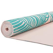 Коврик для йоги и фитнеса PVC двухслойный 4мм SP-Planeta PALM FI-0180  (размер 173смx61смx4мм, цвета в ассортименте), фото 3