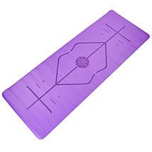 Коврик для йоги с разметкой PU 5мм Record FI-8307 (размер 1,83мx0,68мx5мм, цвета в ассортименте), фото 2