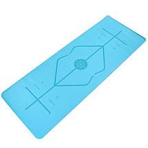 Коврик для йоги с разметкой PU 5мм Record FI-8307 (размер 1,83мx0,68мx5мм, цвета в ассортименте), фото 3
