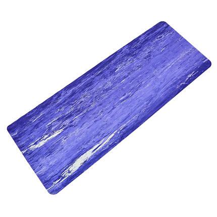 Коврик для фитнеса и йоги Резиновый 4мм FI-0567 (размер 1,83мx0,68мx4мм, цвета в ассортименте), фото 2