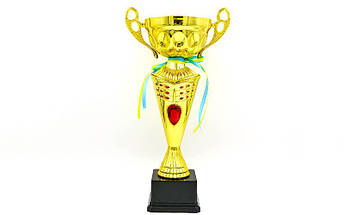 Кубок спортивный с ручками FLAME Y153A (металл, пластик, h-36см, b-19см, d чаши-19см, золото), фото 3