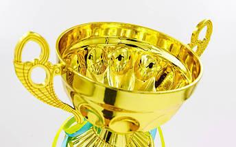 Кубок спортивный с ручками FLAME Y153A (металл, пластик, h-36см, b-19см, d чаши-19см, золото), фото 2