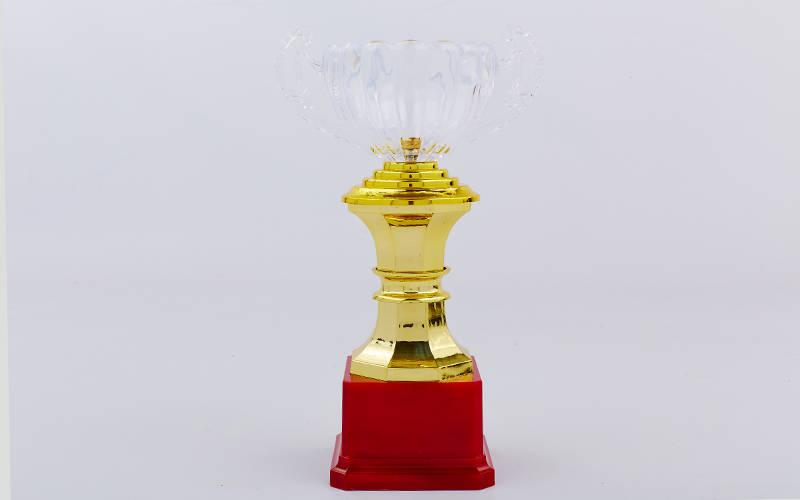 Кубок спортивный с ручками h-23см C-895-3 (пластик, h-23см, b-14см, d чаши-9см, золото)