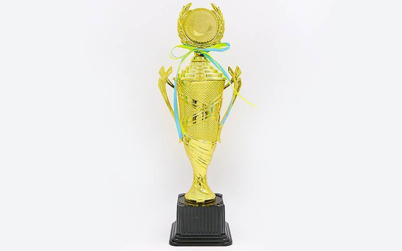Кубок спортивный с ручками, крышкой и местом под жетон UNITY C-678C (металл, h-40см,b-15см,d-10см, золото)