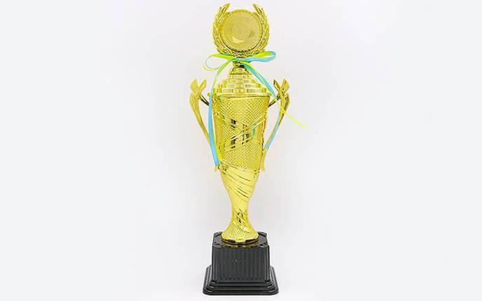 Кубок спортивный с ручками, крышкой и местом под жетон UNITY C-678C (металл, h-40см,b-15см,d-10см, золото), фото 2