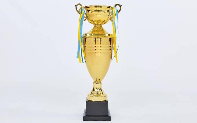 Кубок спортивный с крышкой и чашей CUP C-1505C (металл, h-44см, b-17см, d чаши-10см, золото), фото 2