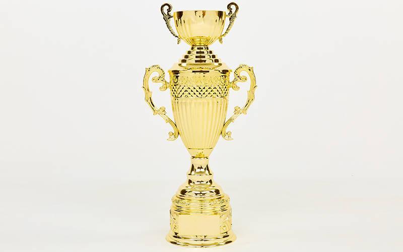 Кубок спортивный с ручками, крышкой и чашей ARES HB4127A (металл, пластик, h-53см,b-19см,d чаши-12см,золото)