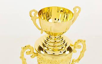 Кубок спортивный с ручками, крышкой и чашей ARES HB4127A (металл, пластик, h-53см,b-19см,d чаши-12см,золото), фото 2