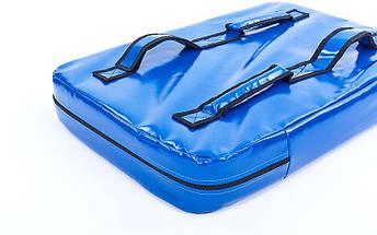 Макивара Прямая из Кожвинила (1шт) SPORTKO UR M3 (р-р 60x40x8,5см, синий, синий-красный), фото 2