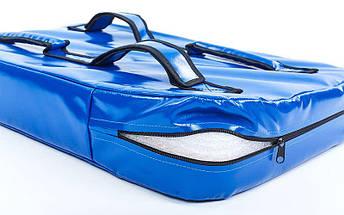 Макивара Прямая из Кожвинила (1шт) SPORTKO UR M3 (р-р 60x40x8,5см, синий, синий-красный), фото 3