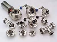 Клапан дисковый нерж. 304 DIN 11852 DN 15 - 150