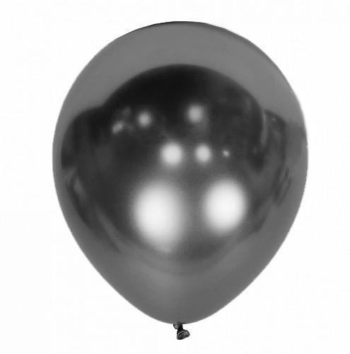 """Латексні кулі 12"""" хром Kalisan Туреччина 63 сірий (30 см), 50 шт"""