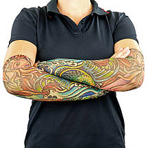 Нарукавники тату (2шт пара) нарукавники с татуировкой MS-0286 (полиэстер, цвета в ассортименте), фото 3