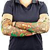 Нарукавники тату (2шт пара) нарукавники с татуировкой MS-0286 (полиэстер, цвета в ассортименте), фото 2