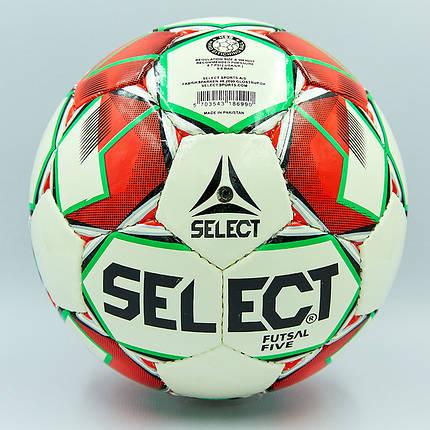 Мяч для футзала №4 ламин. ST FIVE ST-8159  (№5, 5 сл., сшит вручную) (белый-красный), фото 2