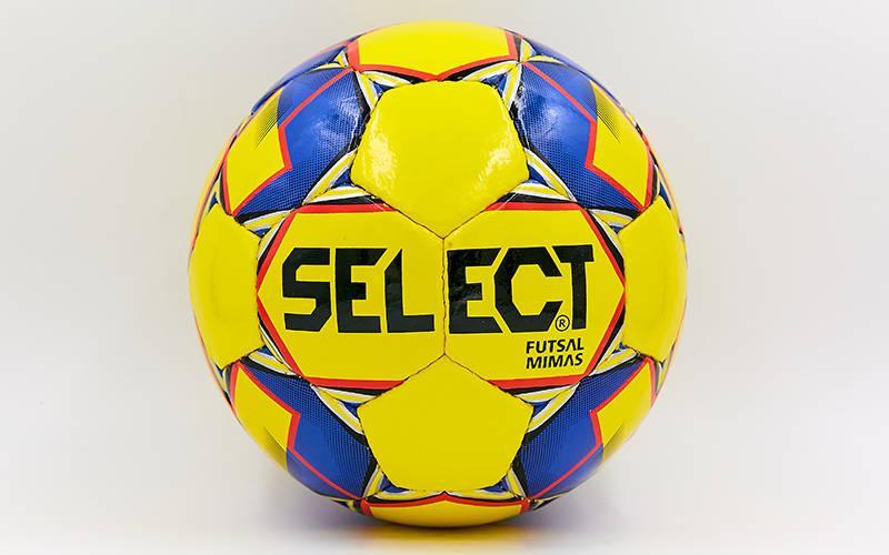 Мяч для футзала №4 ламин. ST MIMAS ST-8149 (5 сл., сшит вручную) (желтый-синий)