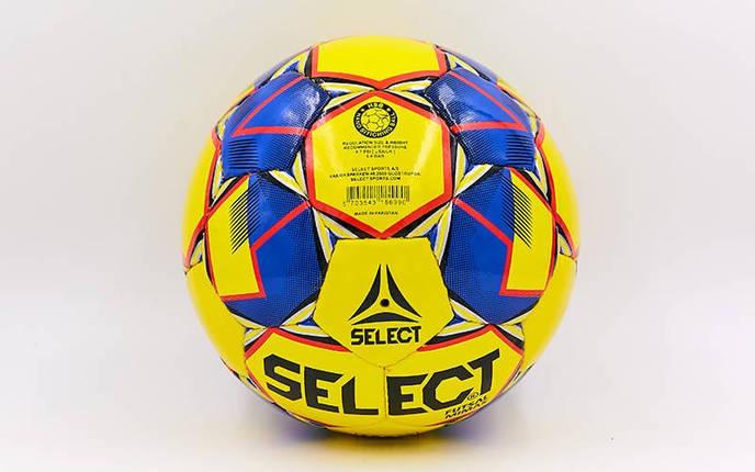 Мяч для футзала №4 ламин. ST MIMAS ST-8149 (5 сл., сшит вручную) (желтый-синий), фото 2