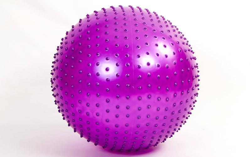 Мяч для фитнеса (фитбол) массажный 75см Zelart FI-1988-75 (PVC, 1400г,цвета в ассор,ABS технолог)
