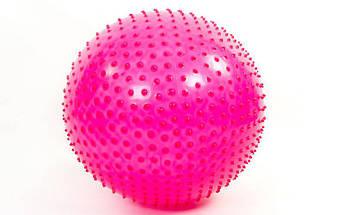 Мяч для фитнеса (фитбол) массажный 75см Zelart FI-1988-75 (PVC, 1400г,цвета в ассор,ABS технолог), фото 3