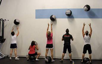 Мяч волбол для кроссфита и фитнеса 8кг Zelart WALL BALL FI-5168-8 (PU, наполнитель-метал. гранулы, d-33см, черный-зеленый), фото 3