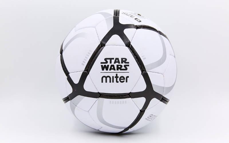 Мяч футбольный №5 Гриппи 5сл. MITER FB-6761 (№5, 5сл., сшит вручную)