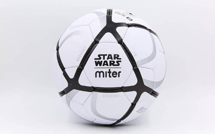Мяч футбольный №5 Гриппи 5сл. MITER FB-6761 (№5, 5сл., сшит вручную), фото 2