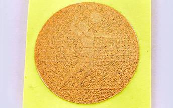 Наклейка (жетон) на медаль, кубок d-2,5см Волейбол 25-0106 (1, 2, 3 место, 1уп.-120шт, цена за 1шт), фото 3