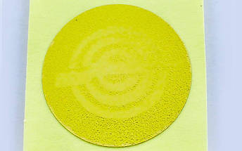 Наклейка (жетон) на медаль, кубок d-2,5см Стрельба 25-0005 (1, 2, 3 место, 1уп.-120шт, цена за 1шт), фото 3