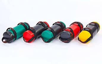 Мешок для кроссфита и фитнеса UR FI-6574-15 (PVC, нейлон, вес 15кг, р-р 56x22см, черный-красный), фото 2