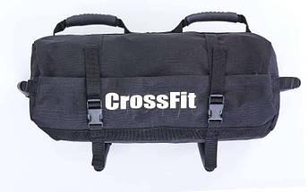 Сумка для кроссфита Sandbag FI-6232-3 60LB (PU, вес до 28 кг, 6 филлеров для песка, черный), фото 2